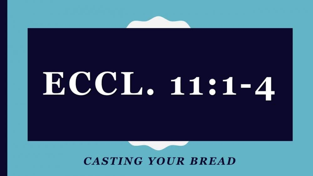 Casting Your Bread, Eccl. 11:1 Image