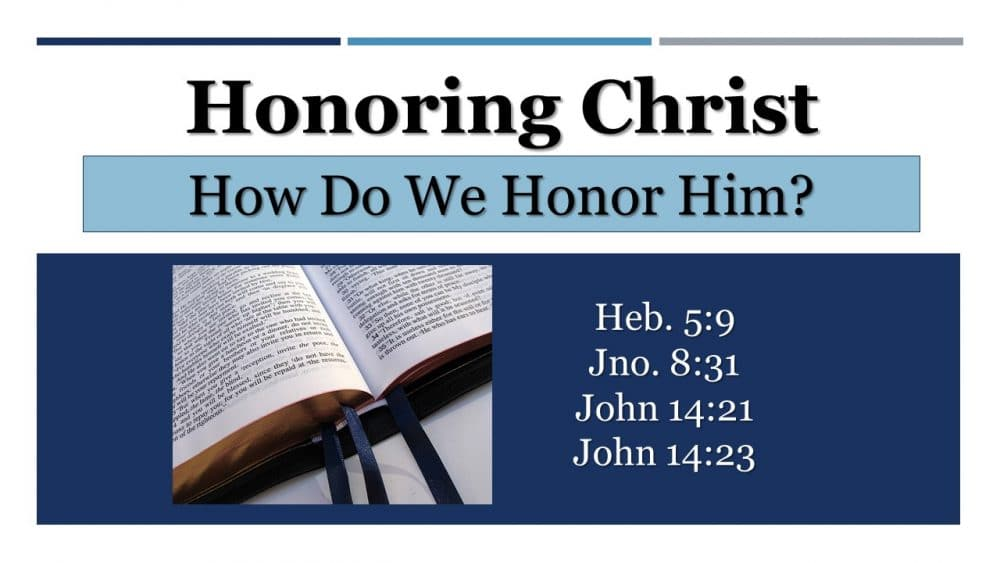 Honoring Christ Image