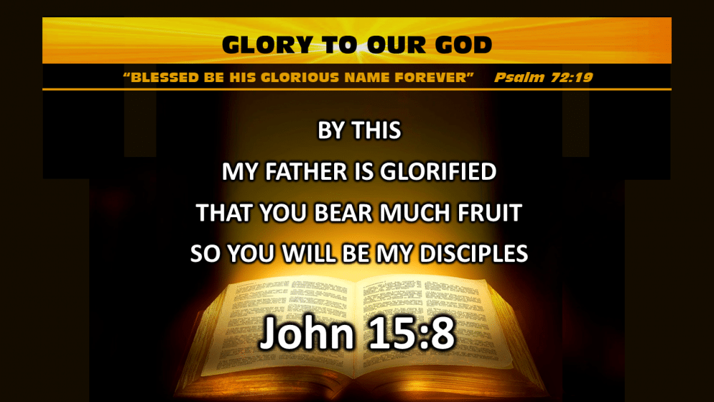 Glory to our God Image