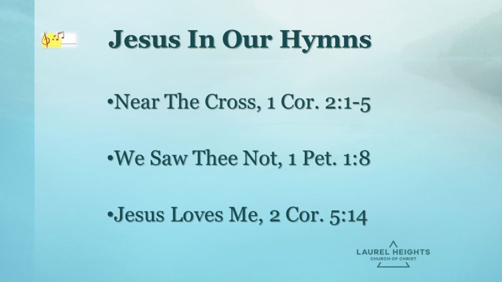 Jesus in our Hymns Image