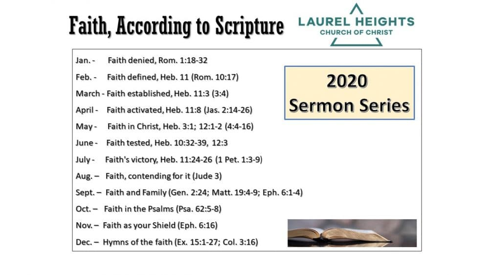 Faith According to Scripture #4 Image