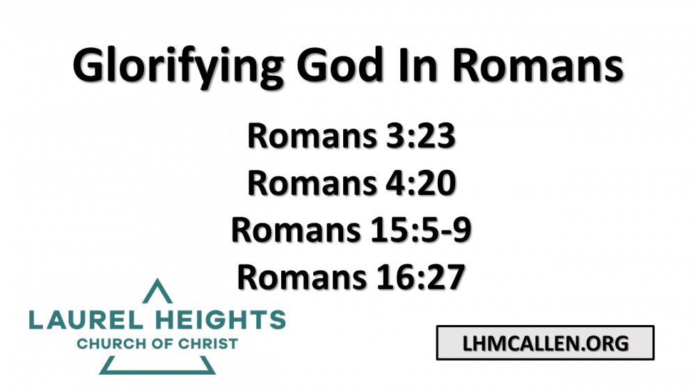 Glorifying God, In Romans Image