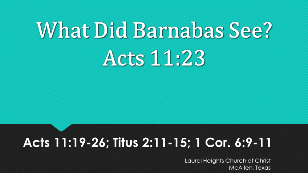 What did Barnabas See? Image