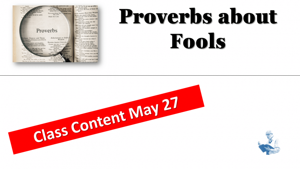 Proverbs - About Fools Image
