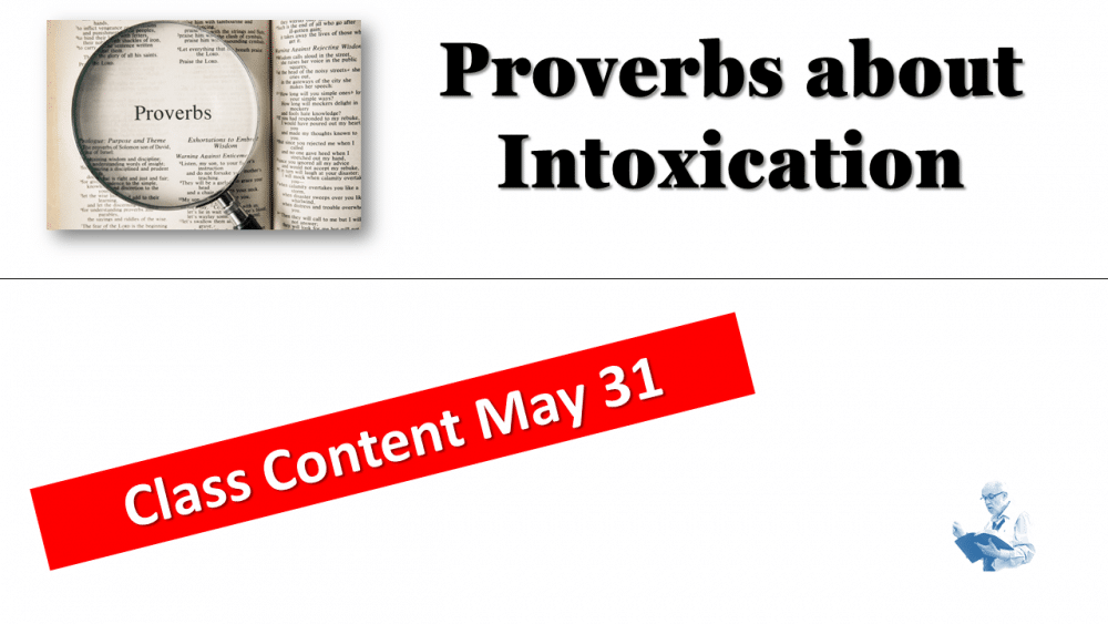 Proverbs Class May 27