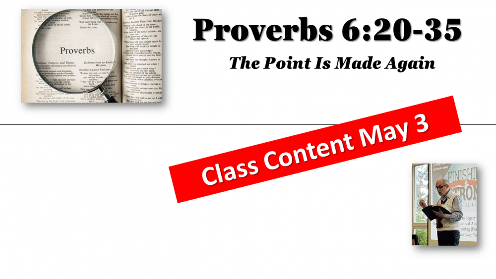 Proverbs Continued Studies