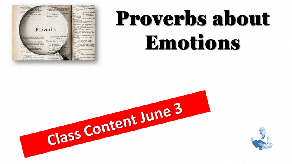 Proverbs Class June 3 Image
